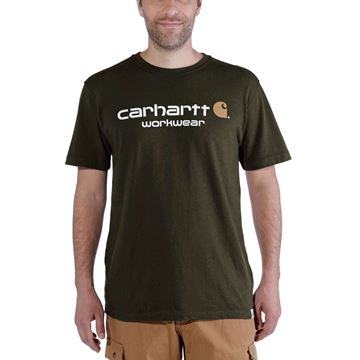 T-SHIRT CORE LOGO SHORT SLEEVE MOSS - CARHARTT