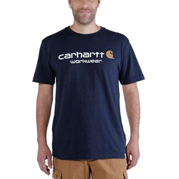 T-SHIRT CORE LOGO SHORT SLEEVE NAVY - CARHARTT