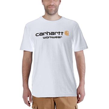 T-SHIRT CORE LOGO SHORT SLEEVE WHITE - CARHARTT
