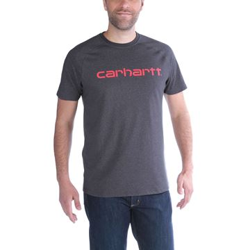 T-SHIRT FORCE COTTON DELMONT GRAPHIC CARBON HEATHER - CARHARTT