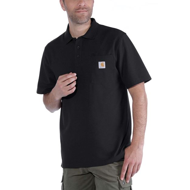 K570 CONTRACTOR'S WORK POCKET POLO BLK- CARHARTT