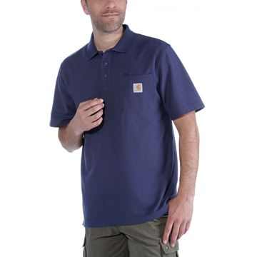 CONTRACTOR'S WORK POCKET POLO DARK COBALT BLUE - CARHARTT