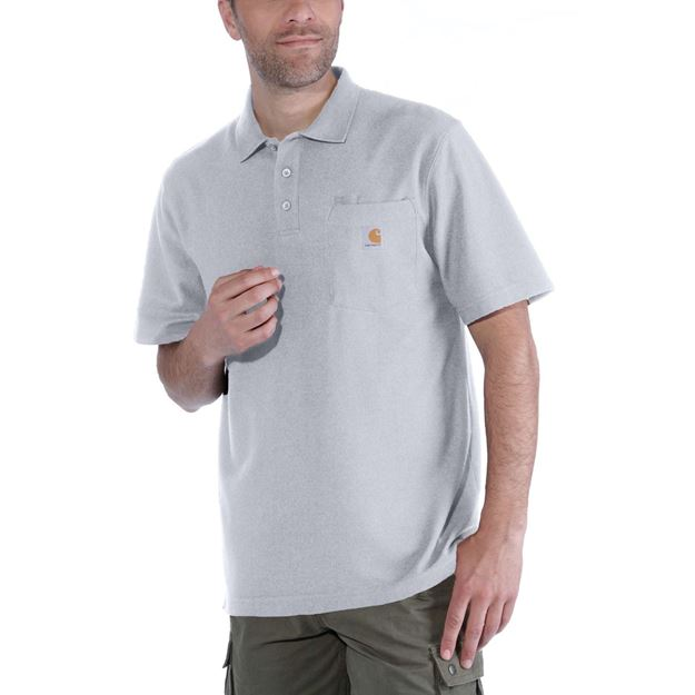 baf17ba7 K570 CONTRACTOR'S WORK POCKET POLO HGY - CARHARTT | Safekat