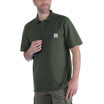 K570 CONTRACTOR'S WORK POCKET POLO MOSS- CARHARTT