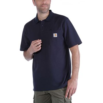 K570 CONTRACTOR'S WORK POCKET POLO NVY- CARHARTT