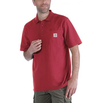 CONTRACTOR'S WORK POCKET POLO RED - CARHARTT