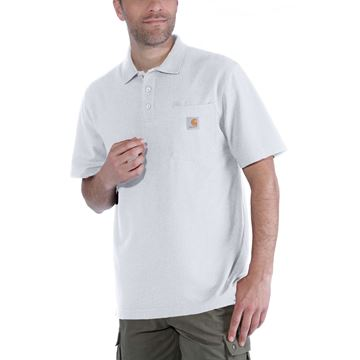 CONTRACTOR'S WORK POCKET POLO WHITE - CARHARTT
