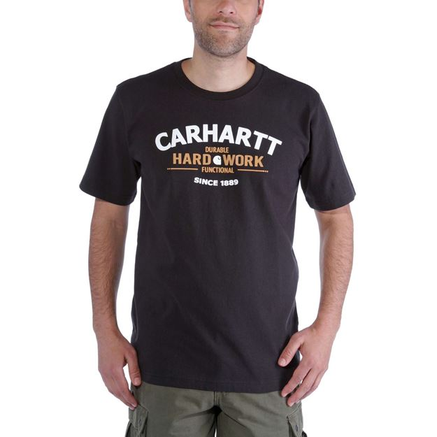 ΜΠΛΟΥΖΑΚΙ CARHARTT WORKWEAR GRAPHIC HARD WORK SHORT SLEEVE T-SHIRT  BLACK