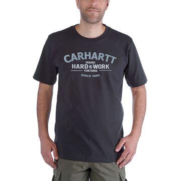 ΜΠΛΟΥΖΑΚΙ CARHARTT WORKWEAR GRAPHIC HARD WORK SHORT SLEEVE T-SHIRT  CARBON HEATHER