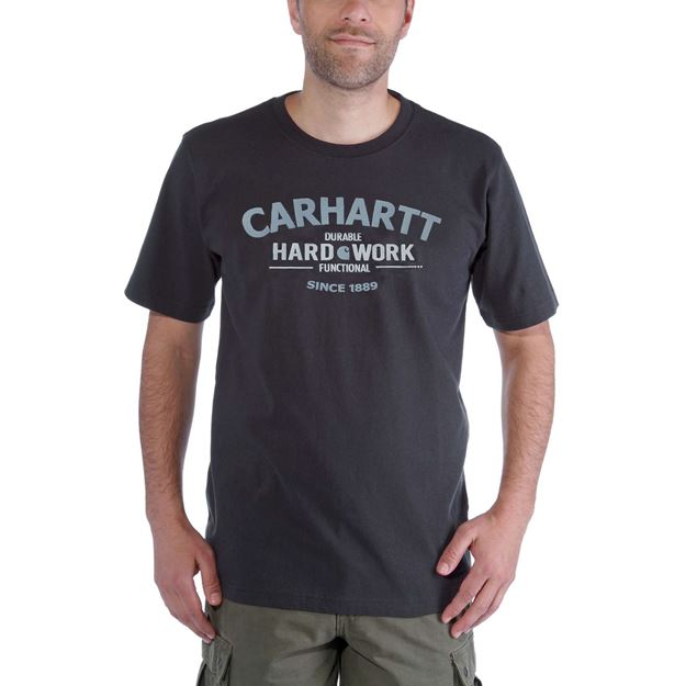ΜΠΛΟΥΖΑΚΙ CARHARTT WORKWEAR GRAPHIC HARD WORK SHORT SLEEVE T-SHIRT  CARBON HEATHER