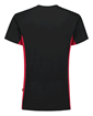 ΒΑΜΒΑΚΕΡΟ ΜΠΛΟΥΖΑΚΙ  TRICORP WORKWEAR BI-COLOUR TSHIRT BLACK / RED