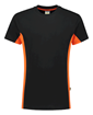 ΒΑΜΒΑΚΕΡΟ ΜΠΛΟΥΖΑΚΙ  TRICORP WORKWEAR BI-COLOUR TSHIRT BLACK / ORANGE