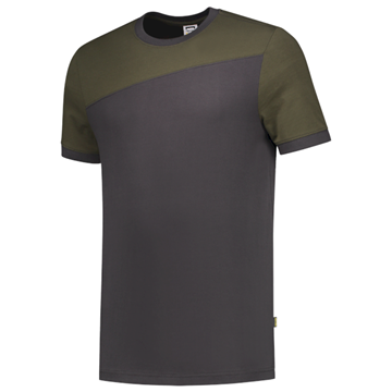 ΔΙΧΡΩΜΟ ΜΠΛΟΥΖΑΚΙ  TRICORP WORKWEAR BI-COLOUR T-SHIRT DARK GREY / ARMY