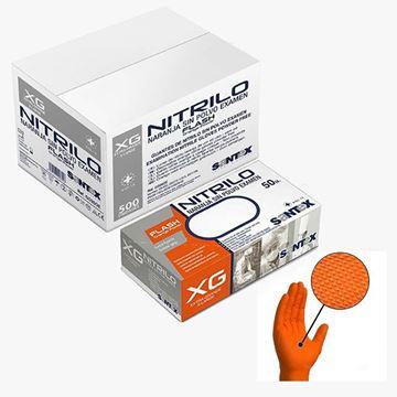 Santex Πορτοκαλί Γάντια νιτριλίου μιας χρήσης GD26