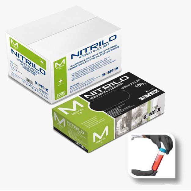 Santex Μαύρα Γάντια μιας χρήσης νιτριλίου GD20