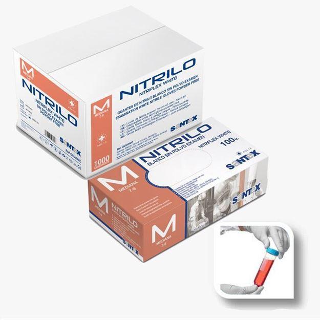 Santex Λευκά Γάντια μιας χρήσης νιτριλίου GD20
