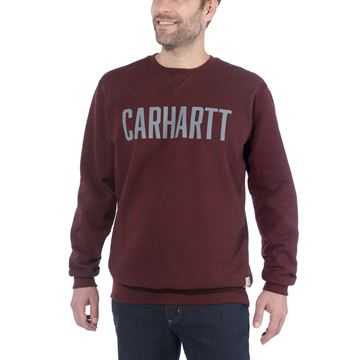 ΜΠΛΟΥΖΑ BLOCK LOGO CREWNECK SWEAT103853 PORT HEATHER - CARHARTT