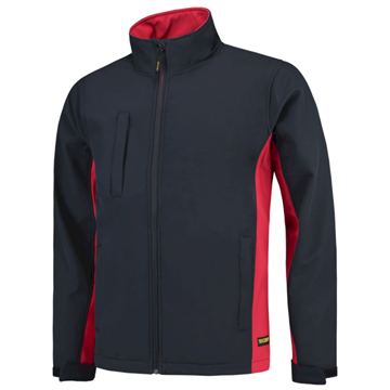 SOFTSHELL TRICORP WORKWEAR BI-COLOUR 402002 NAVY - RED
