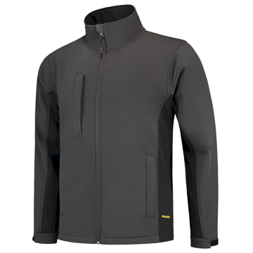SOFTSHELL TRICORP WORKWEAR BI-COLOUR 402002 DARKGREY - BLACK