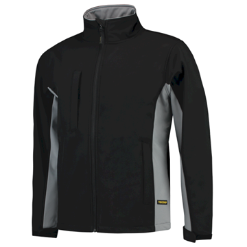 SOFTSHELL TRICORP WORKWEAR BI-COLOUR 402002 BLACK - GREY