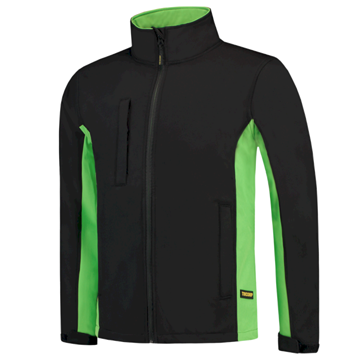SOFTSHELL TRICORP WORKWEAR BI-COLOUR 402002 BLACK - LIME