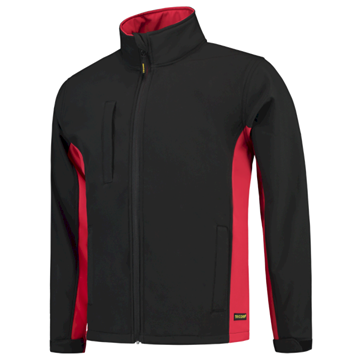 SOFTSHELL TRICORP WORKWEAR BI-COLOUR 402002 BLACK - RED