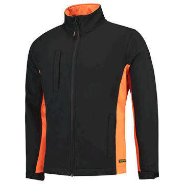 SOFTSHELL TRICORP WORKWEAR BI-COLOUR 402002 BLACK - ORANGE