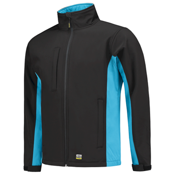 SOFTSHELL TRICORP WORKWEAR BI-COLOUR 402002 BLACK - TURQUOISE