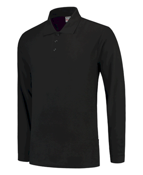 UNISEX ΜΠΛΟΥΖΑ TRICORP 100% COTTON LONG SLEEVE POLO 201008 BLACK