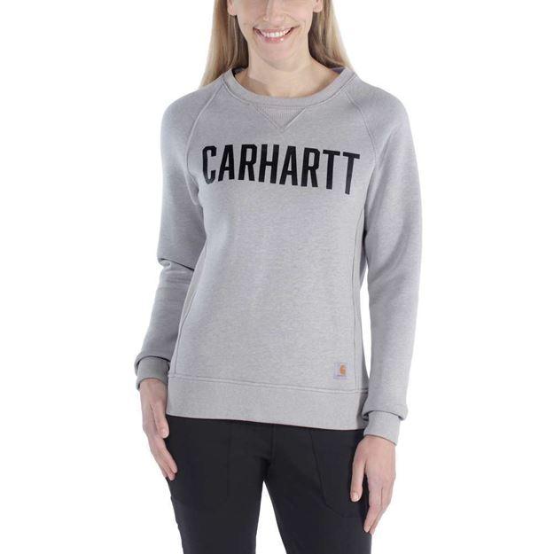 ΓΥΝΑΙΚΕΙΑ ΜΠΛΟΥΖΑ CARHARTT CLARKSBURG GRAPHIC CREWNECK 103926 ASPHALT HEATHER