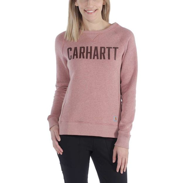 ΓΥΝΑΙΚΕΙΑ ΜΠΛΟΥΖΑ CARHARTT CLARKSBURG GRAPHIC CREWNECK 103926 BURLWOOD HEATHER