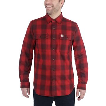 ΠΟΥΚΑΜΙΣΟ CARHARTT SLIM-FIT FALLNEL SHIRT 104144 - DARK CRIMSON
