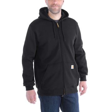 ΖΑΚΕΤΑ MIDWEIGHT HOODED ZIP FRONT SWEATER K122 BLACK - CARHARTT