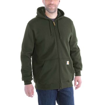 ΖΑΚΕΤΑ MIDWEIGHT HOODED ZIP FRONT SWEATER K122 MOSS - CARHARTT