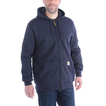 ΖΑΚΕΤΑ MIDWEIGHT HOODED ZIP FRONT SWEATER K122 NAVY - CARHARTT