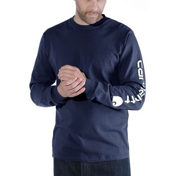 LOGO LONG SLEEVE T-SHIRT EK231 NVY- CARHARTT