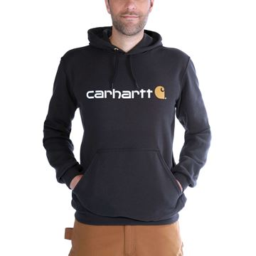 Μπλούζα SIGNATURE LOGO HOODED SWEATSHIRT 100074 BLK - CARHARTT