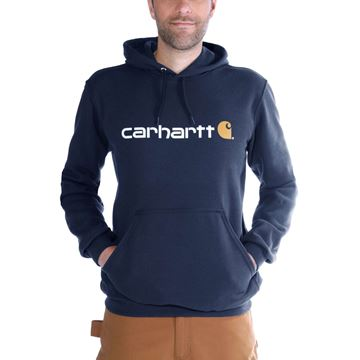Μπλούζα SIGNATURE LOGO HOODED SWEATSHIRT 100074 NVY - CARHARTT