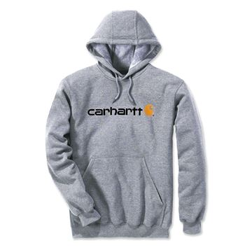 Μπλούζα SIGNATURE LOGO HOODED SWEATSHIRT 100074 HEATHER GREY - CARHARTT