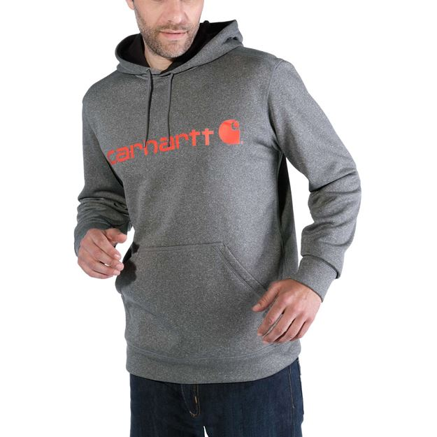 Μπλούζα FORCE EXTREMES SIGNATURE GRAPHIC HOODED SWEATSHIRT 102314 GRANITE HEATHER - CARHARTT