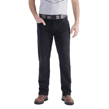 ΤΖΗΝ ΠΑΝΤΕΛΟΝΙ CARHARTT RUGGED FLEX STRAIGHT JEANS 102804 DUSTY BLACK
