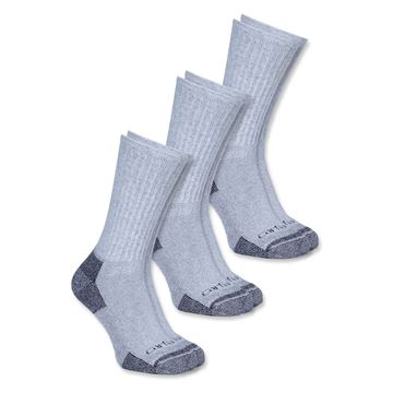ΚΑΛΤΣΕΣ (Σετ 3 Ζεύγη) ALL SEASON COTTON CREW WORK SOCKS A62 GREY - CARHARTT