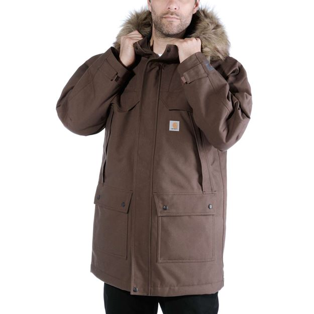 ΜΠΟΥΦΑΝ QUICK DUCK SAWTOOTH PARKA 102728 CANYON BROWN - CARHARTT