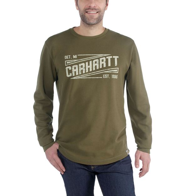 ΜΠΛΟΥΖΑ CARHARTT TILDEN GRAPHIC CREW 103850 MILITARY OLIVE