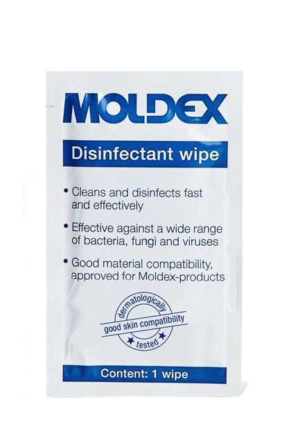 Πανάκια καθαρισμού για μάσκες MOLDEX CLEANING WIPES 9981