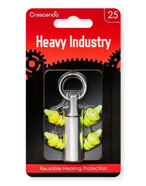 Ωτοασπίδες με τεχνολογία φίλτρων Crescendo Heavy Industry 25