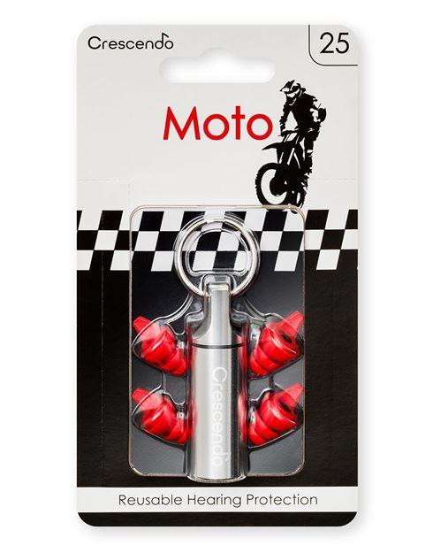 Ωτοασπίδες με τεχνολογία φίλτρων Crescendo Moto 25