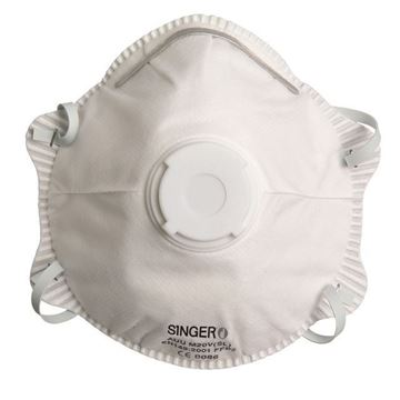 SINGER SAFETY μάσκα μιας χρήσης με βαλβίδα FFP2 NRD AUUM20VSL