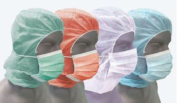 Σετ κουκούλα και μάσκα μιας χρήσης Santex DAS01 Λευκό