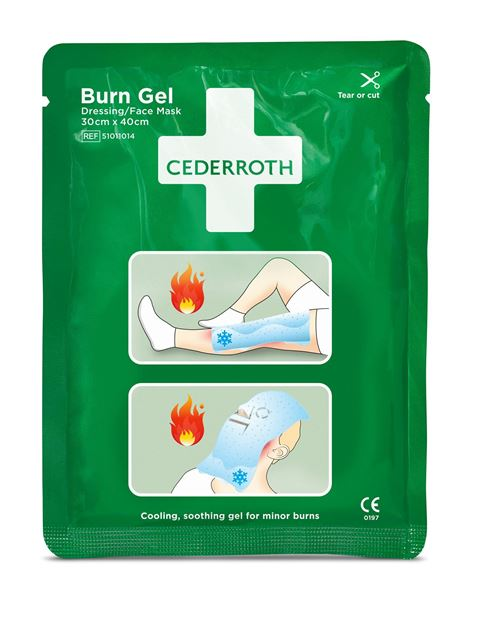 Επίθεμα με τζελ για εγκαύματα Cederroth Burn Gel Dressing Face Mask 51011014